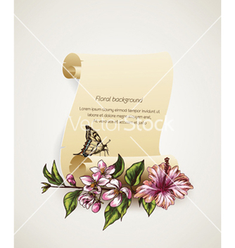 Free floral background vector - Free vector #241589