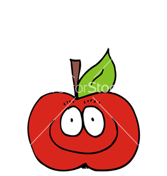 Free caricature of apple vector - Free vector #241629
