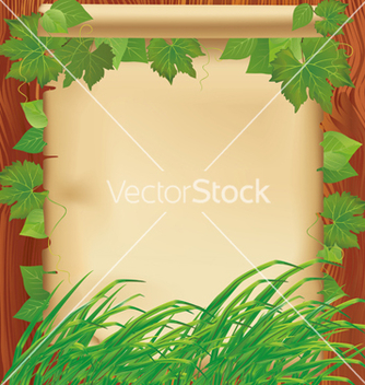 Free nature background with leaves grass and paper vector - Free vector #241649