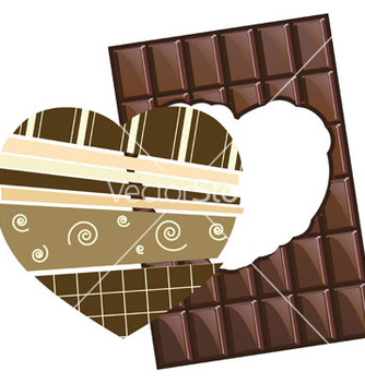 Free chocolate valentine card coffee in vector - Free vector #241669