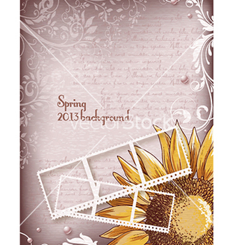 Free floral background vector - Free vector #241789