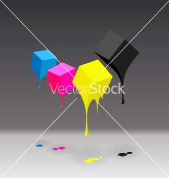 Free cmyk cubes with blobs on grey background vector - Free vector #242189
