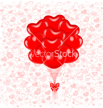 Free red balloons vector - бесплатный vector #242209
