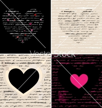 Free heart set love background vector - Free vector #242269