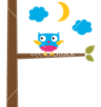 Free cute owl card vector - Free vector #242319