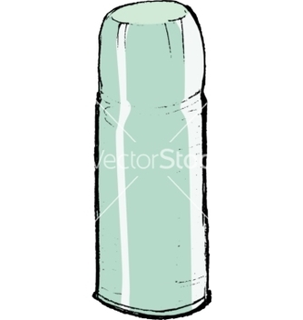 Free metallic thermos vector - vector gratuit #242349