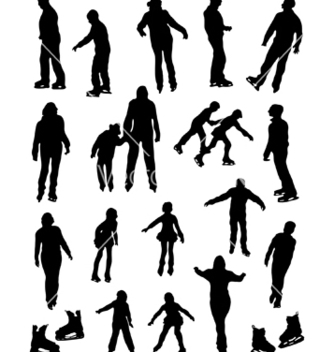 Free collection of silhouettes of people on the fads vector - Free vector #242429