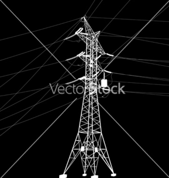 Free silhouette of high voltage power line vector - бесплатный vector #242479