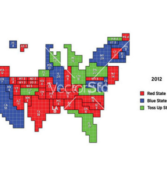 Free 2012 proportional electoral map vector - Free vector #242599