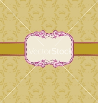Free template frame design for greeting card vector - Free vector #242739