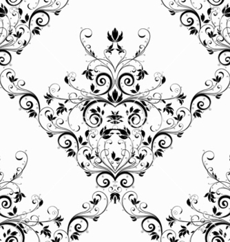 Free damask seamless pattern vector - vector gratuit #242759