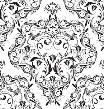 Free damask seamless pattern vector - vector gratuit #242799