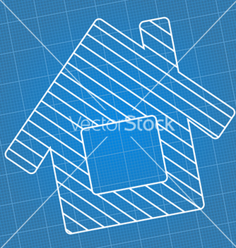 Free blueprint house vector - vector gratuit #243049