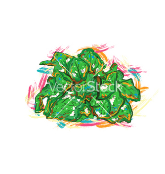 Free vegetables with grunge vector - Free vector #243269