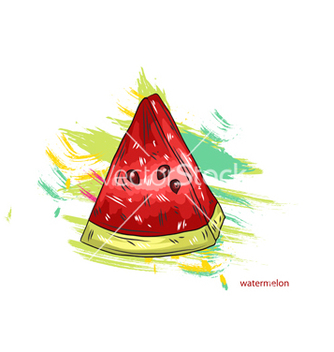 Free watermelon with colorful splashes vector - vector gratuit #243299