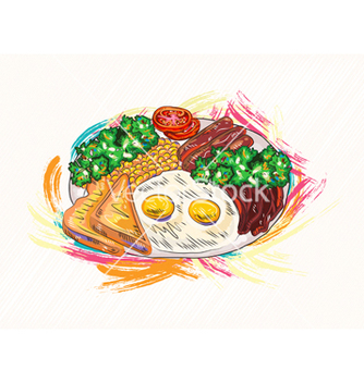 Free cooked eggs with vegetables vector - Free vector #243349