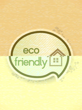 Free eco friendly design vector - Kostenloses vector #243549