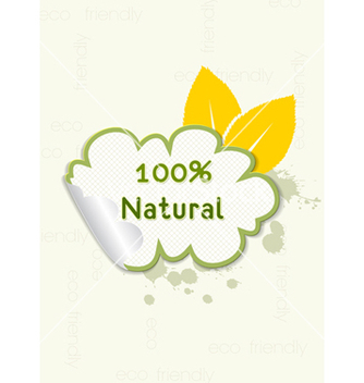 Free eco friendly sticker vector - Free vector #243659