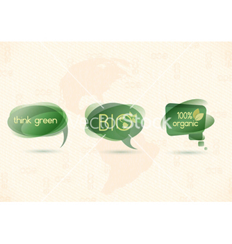 Free eco chat bubbles vector - Free vector #243679