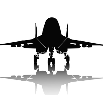 Free aircraft silhouette vector - Free vector #243779
