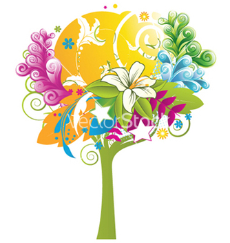Free abstract tree vector - Free vector #243879