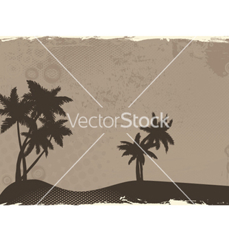 Free summer grunge background with palm trees vector - Free vector #243929