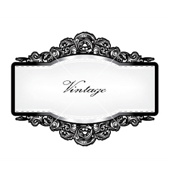 Free baroque floral frame vector - Free vector #244359