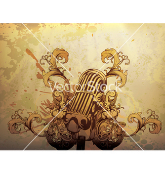 Free vintage music background vector - Free vector #244439