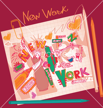Free new york doodles vector - vector gratuit #244489