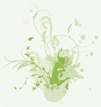 Free girl with floral vector - vector gratuit #244659