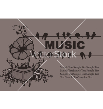 Free concert poster with gramophone vector - vector gratuit #244709