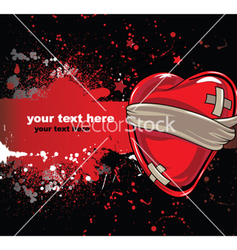 Free heart with grunge vector - Free vector #244729