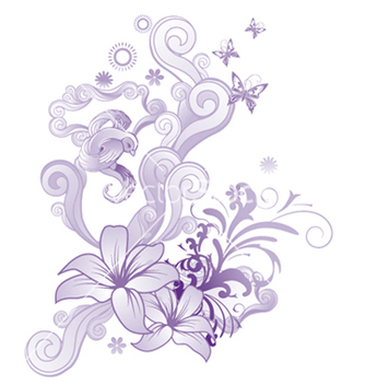 Free abstract floral vector - Free vector #244909