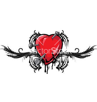 Free heart with floral vector - vector #244999 gratis