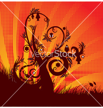 Free fantasy floral background vector - Free vector #245019