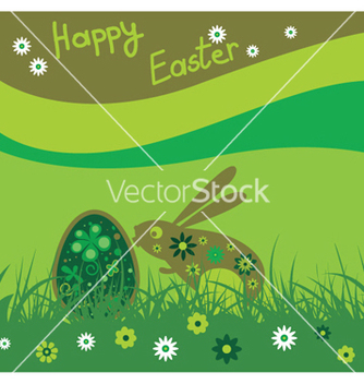 Free easter background with rabbit vector - Kostenloses vector #245209