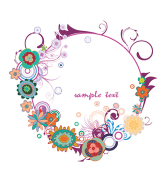 Free floral frame vector - Free vector #245249