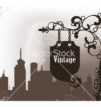 Free wrought iron sign vector - Free vector #245279