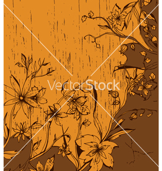 Free vintage floral background with grunge vector - vector gratuit #245499