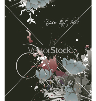 Free grunge floral background vector - vector gratuit #245509