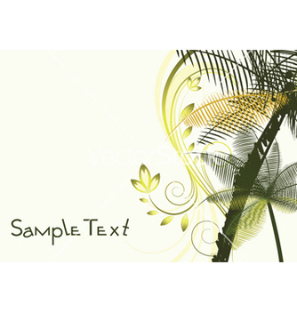 Free summer background with palm trees vector - бесплатный vector #245639