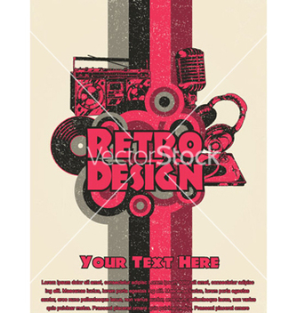 Free retro music poster vector - бесплатный vector #245969