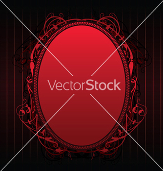 Free red floral frame vector - vector gratuit #246069