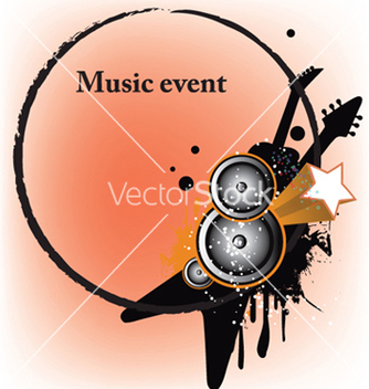 Free concert poster with speakers vector - Free vector #246109