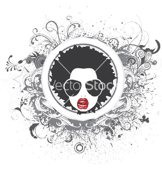 Free funky face emblem vector - Kostenloses vector #246189