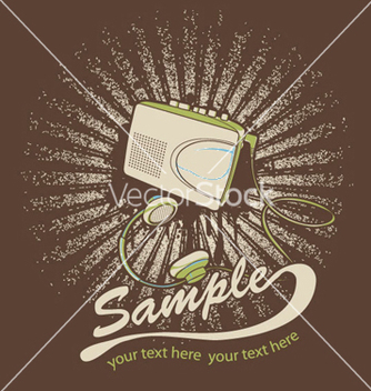 Free music tshirt design vector - бесплатный vector #246299