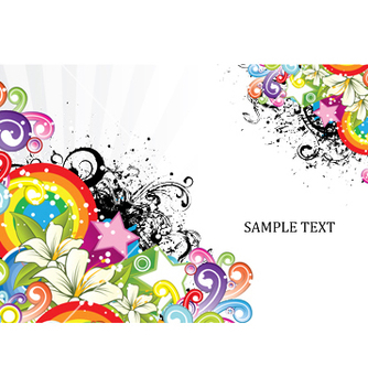Free grunge with floral vector - vector #246319 gratis