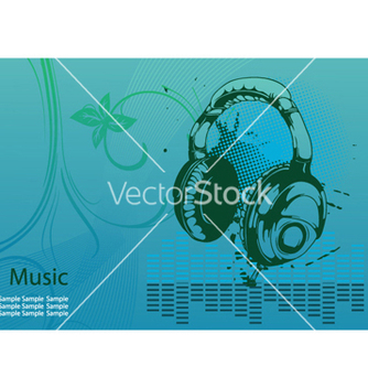 Free concert poster with headphones vector - Free vector #246329
