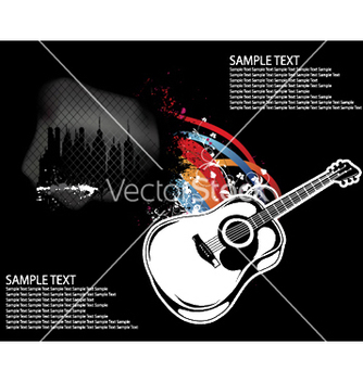 Free guitar background vector - Free vector #246439