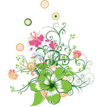 Free abstract flower with circles vector - vector #246949 gratis